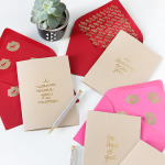 MY DIY | Gold Embossed Mixtape Message Cards