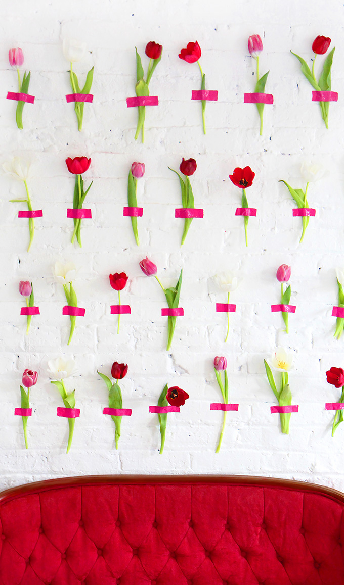 Diy Wall Flowers: Floral Wall Backdrop