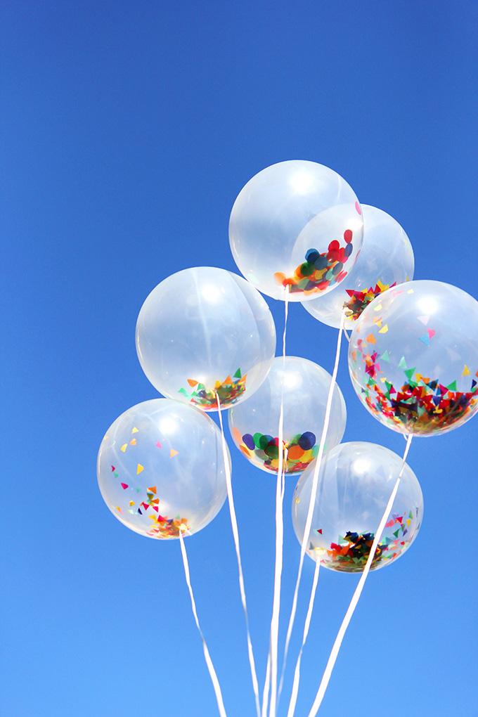 » MY DIY | Confetti balloons