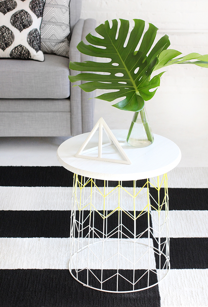 187 My Diy Wire Basket Side Table