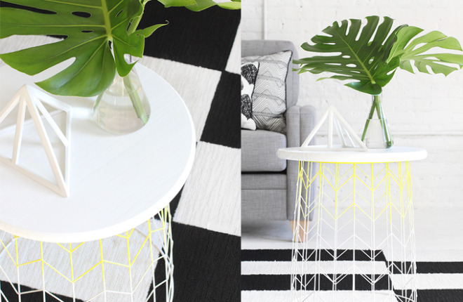 MY DIY | Wire Basket Side Table