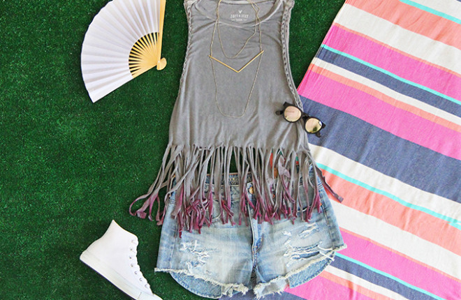 My DIY | Festival Fringed Tank