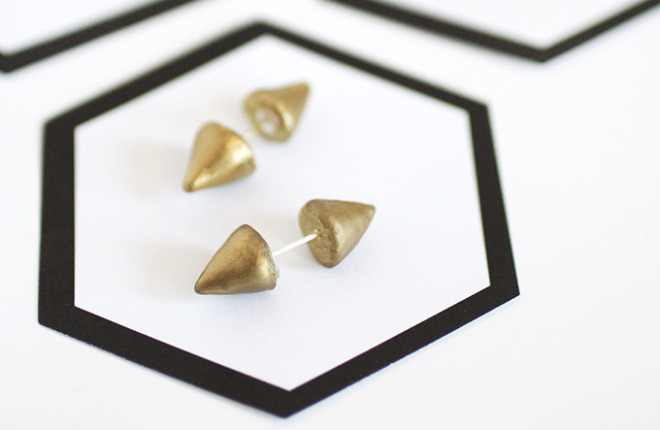 MY DIY | Double-Sided Spiked Earrings