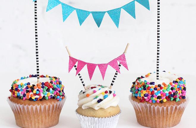 MY DIY | Glitter Cupcake Bunting