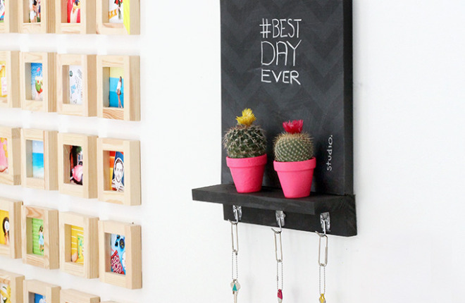 MY DIY | Chalkboard Key Holder