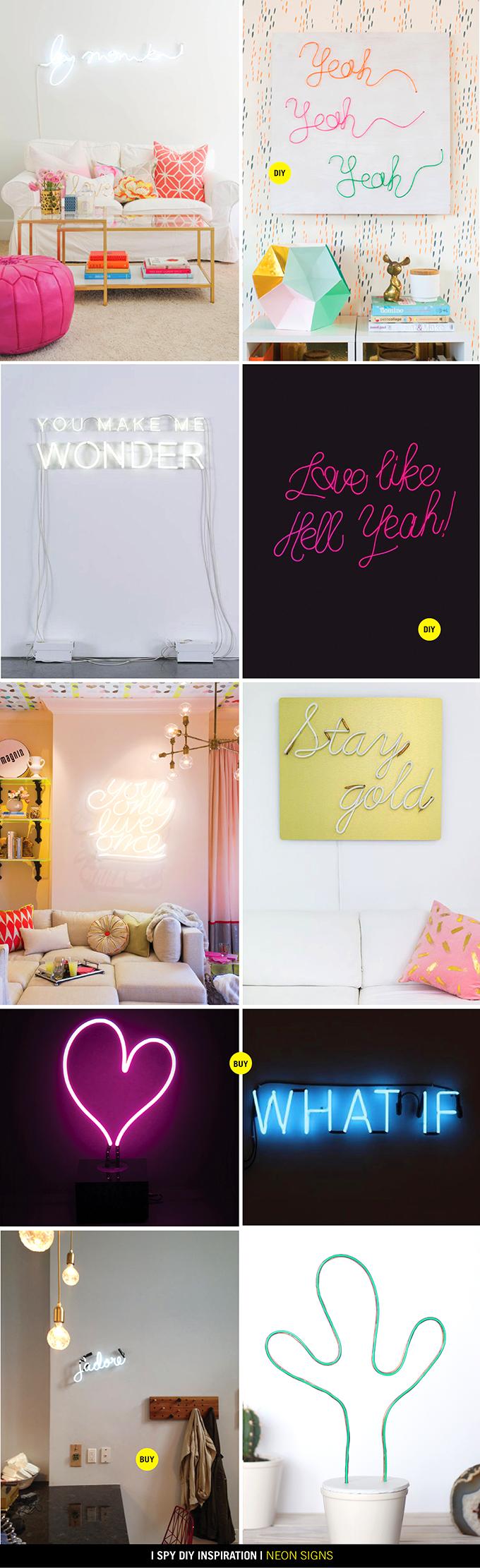 DIY INSPIRATION   Neon Signs   I Spy DIY   Bloglovin'