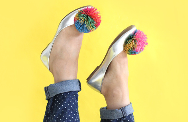 SHOE DIY | Koosh Ball Flats