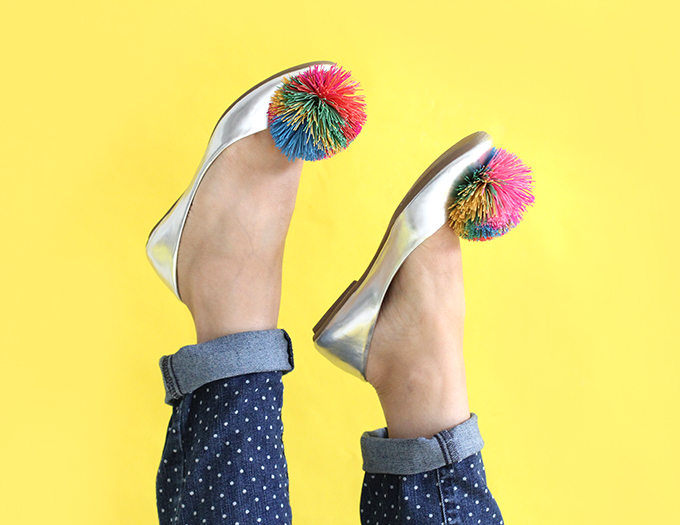 SHOE DIY | Koosh Ball Flats