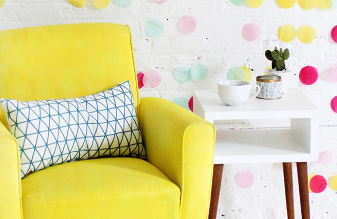 DIY MAKEOVER | Fabric Spray-Painted Chair