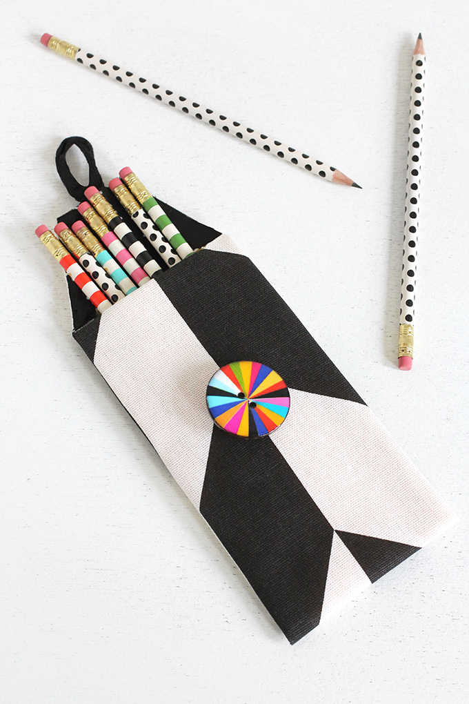 MY DIY | No-Sew Print Pencil Case