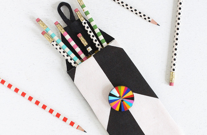 MY DIY | No-Sew Print Pencil Case