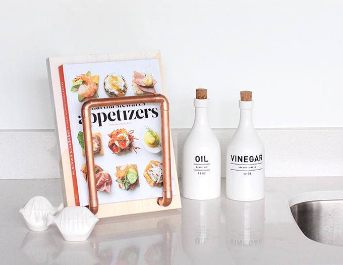 MY DIY | Copper Pipe Cookbook Stand