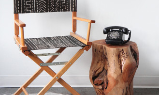 MY DIY | Mudcloth print chair