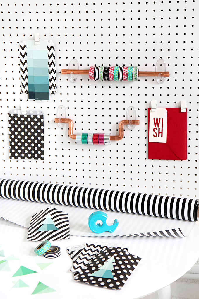 how to make a gift wrapping station