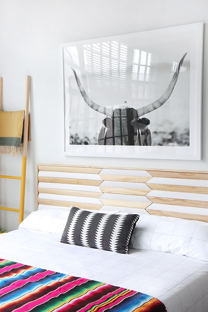 » MY DIY | Geometric Wood Headboard