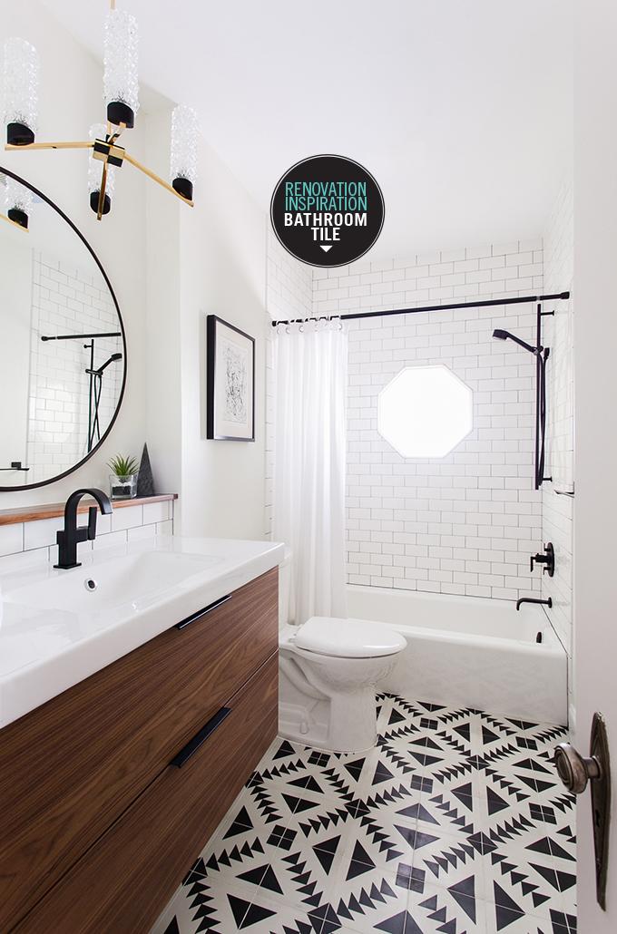 Reno inspiration bathroom tile i spy diy bloglovin for Bathroom tile inspiration