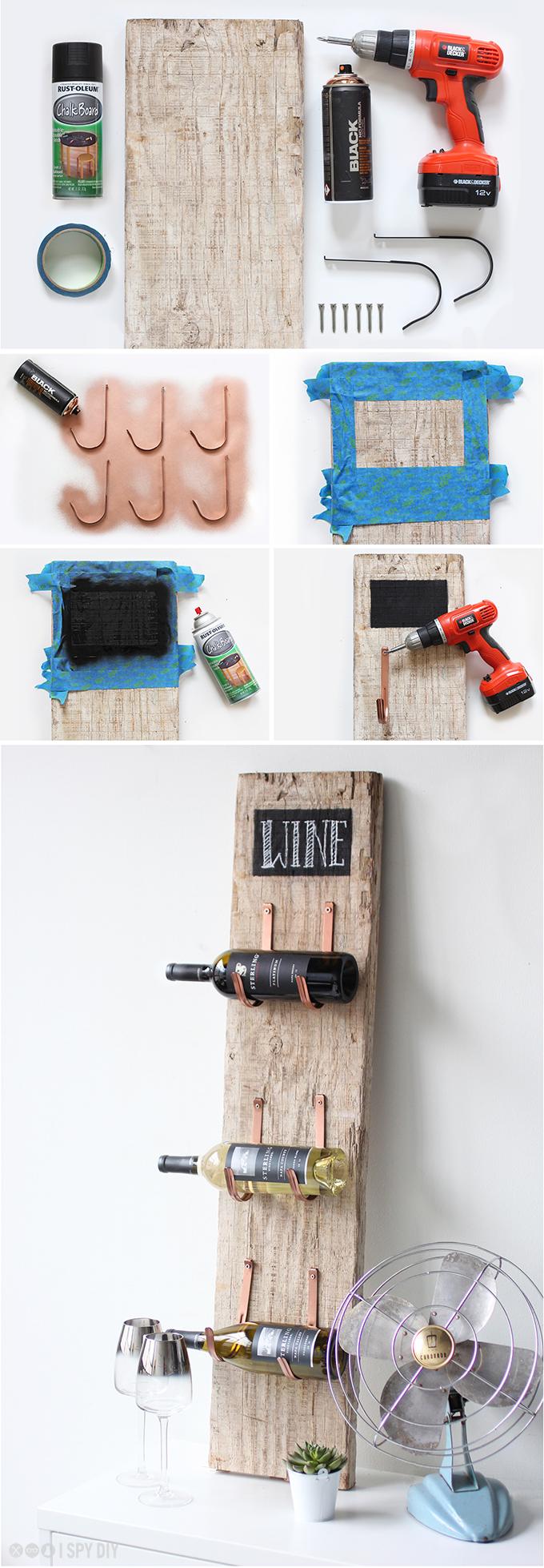 » MY DIY | Barn Wood Wine Rack