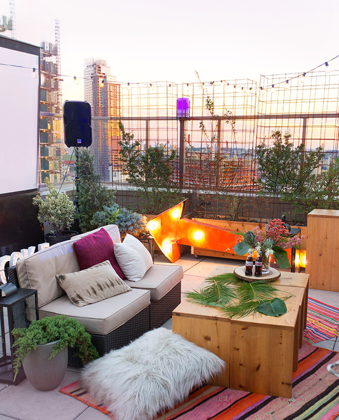 Rooftop Girl's Movie Night