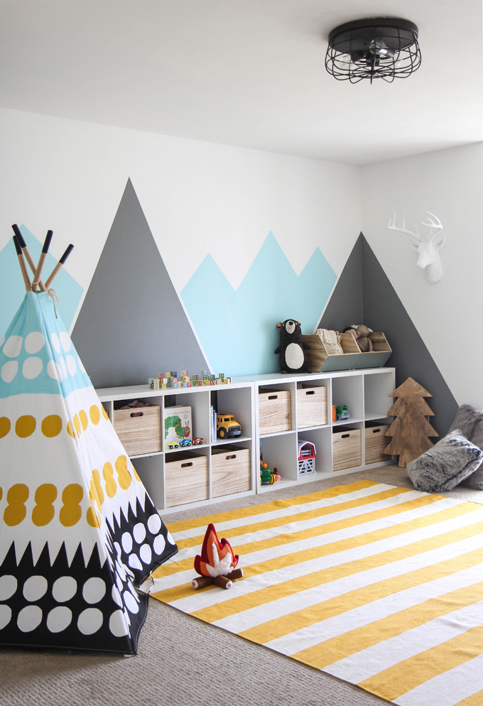 I spy diy design kid s colorful camp playroom for Kinderzimmer play 01
