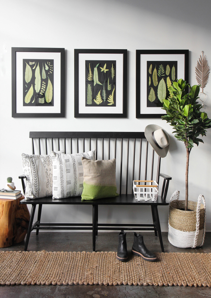 Foyer Seating Year : I spy design decorating an entryway with greenery