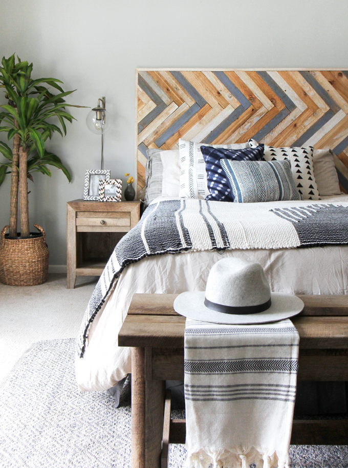 Diy Bedroom Projects Shibori Pillows Rope Rug Lamp Headboard