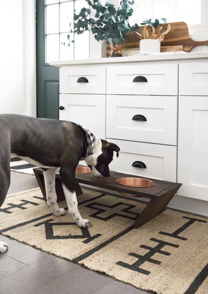 DOG DIY | Wood Dog Bowl Stand