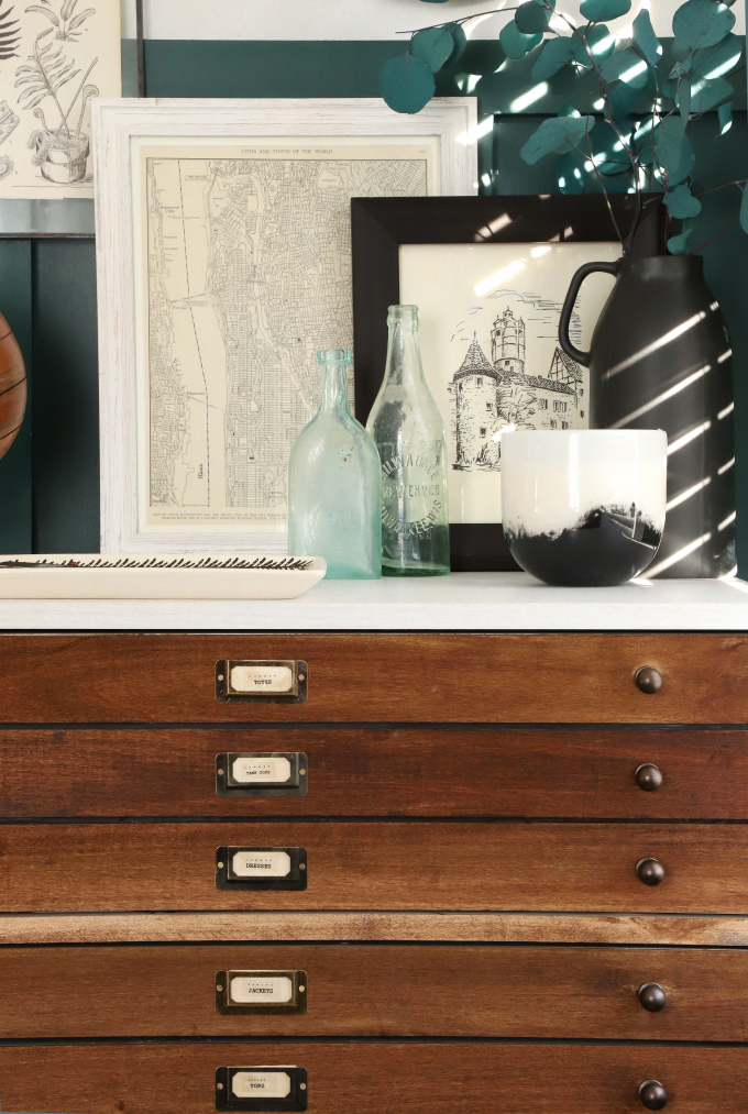 Diy Home Faux Map Drawer Dresser