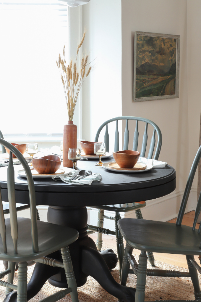 My Diy Thrifted Dining Table Chairs Makeover I Spy Diy