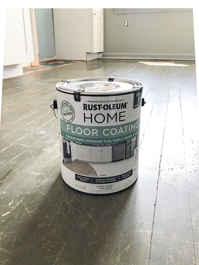 Rustoleum Home Floor Coating that we used for painting the floors
