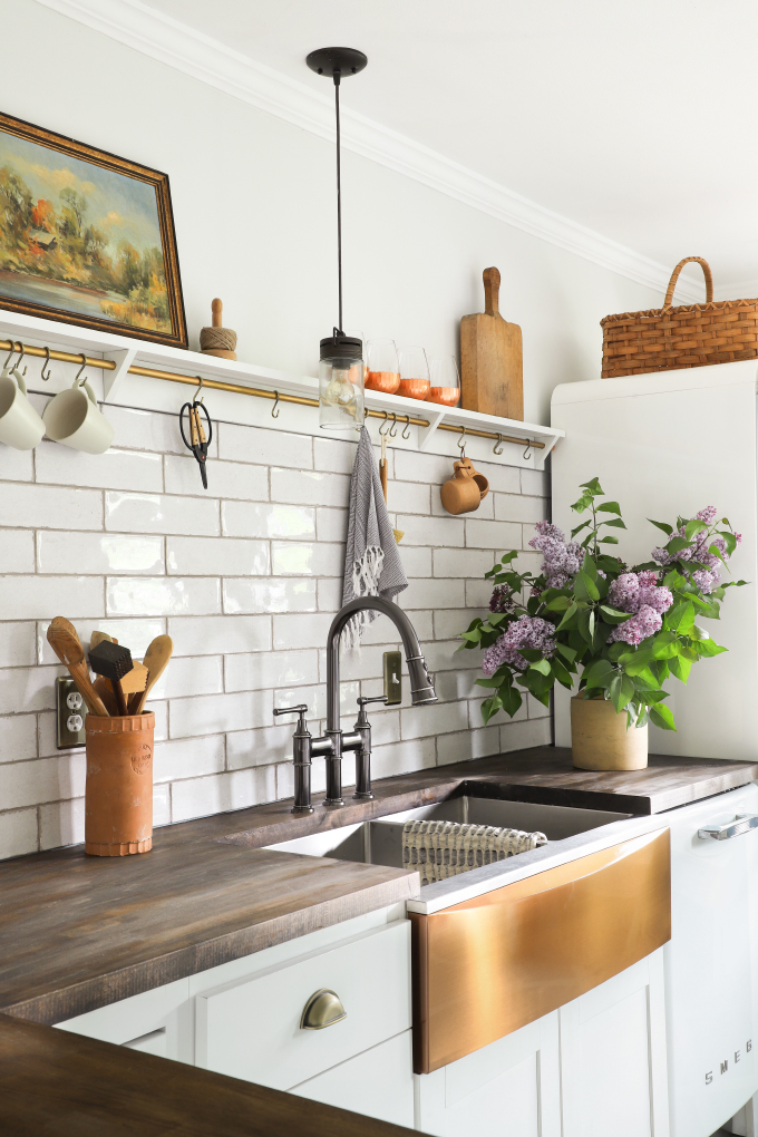 Diy Install An Apron Front Sink With A Butcher Block Countertop I Spy Diy