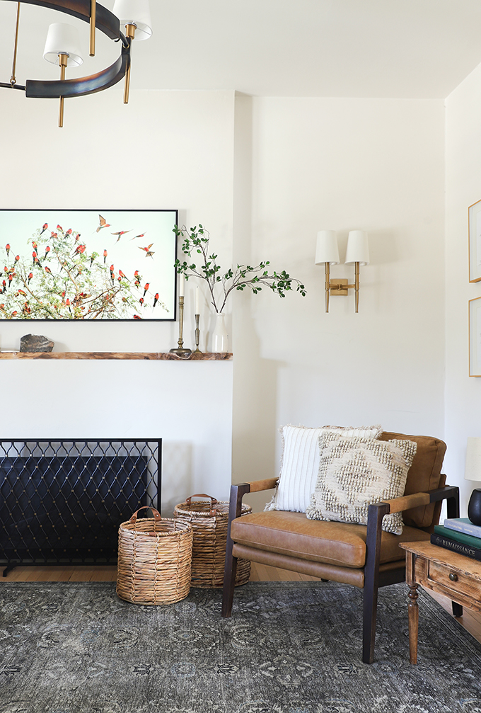 Fall decorated farmhouse living room from I Spy DIY