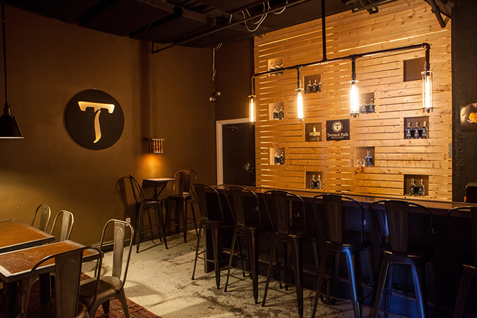 Twisted Path Distillery's dining area