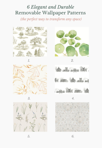 6 Removable Wallpaper Patterns